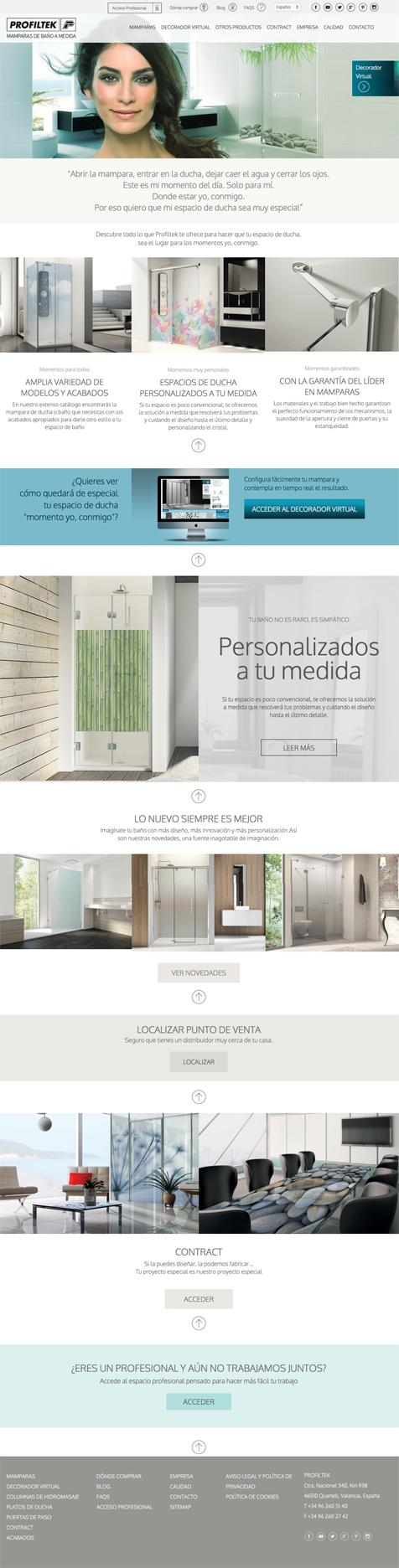 Diseño y programación para la nueva web de PROFILTEK de laclave creación agencia de publicidad de valencia